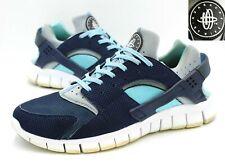 Nike Huarache Free Run Shoes, Men Size 11, Navy Blue, Running Lace up 510801