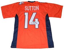 COURTLAND SUTTON SIGNED AUTOGRAPHED DENVER BRONCOS #14 ORANGE JERSEY JSA