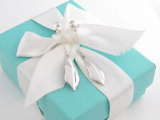 Tiffany & Co Silver Nature Leaf Dangle Dangling Earrings