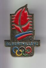 RARE PINS PIN'S .. OLYMPIQUE OLYMPIC ALBERTVILLE 1992 TORCHE RELAIS OR 3D ~17