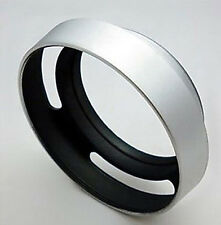 SILVER 48mm Metal Camera Lens SREW-IN HOOD Shade protection