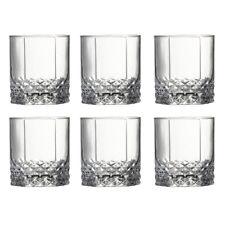 Pasabahce whiskey glass tumbler 6pc set 10.5oz