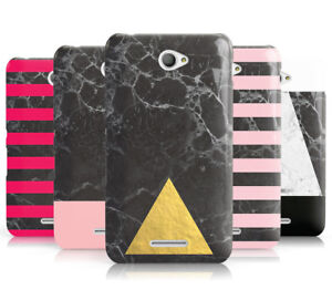 MARBLE COLLECTION GEOMETRIC HARD MOBILE PHONE CASE COVER FOR SONY XPERIA E4