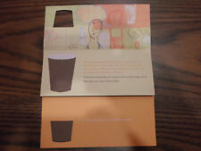 (2x) Starbucks Free Drink Recovery Gift Cards Coffee Beverage Tea Frappe Cup