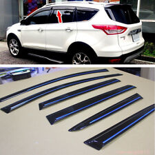 For Ford Escape 2013-2016 Kuga Window Visor Sun Shade Rain Guard Chrome Strip