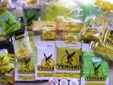 Veniard Fly Tying Bundle - Marabou, Fritz, Thread, Floss - Fluo Green & Yellow