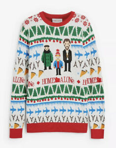 Official Home Alone Film Knitted Christmas Jumper Fairisle Sweater NEXT Small