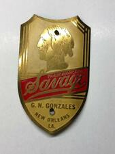 antique bicycle NOS SAVAGE Indian Head BADGE tag G.N.Gonzales New Orleans, LA
