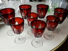 """Set of 8 Cristal D'Arques Gothic Arches Stemmed Water Goblets, France 5¾"""" 5"""""""