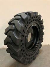 10x16.5 / 30x10-16 Solid Skid Steer Tires Set of 4 with Rims