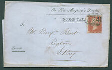 SG29, 1d red-brown, LC14, USED. Cat £40. LETTERSHEET 1855