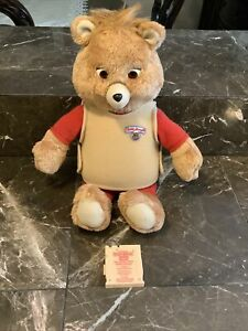 Vintage Teddy Ruxpin Playskool 1992 US Made Untested Fire Safety With Teddy Tape