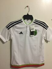 Adidas Mexico Away White Black Jersey Copa America 2016 Size YM Boy's Only