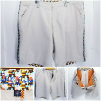 NWOT Robert Graham Mens Size 42 Shorts Beige Khaki