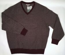 NWT Cremieux Signature LS Wool Cashmere V Neck Red Men's Sweater XL Retail $195