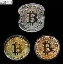 2Pcs Collectible Bitcoin Iron Gift Commemorative Coin Rare In Stock Pack of 2
