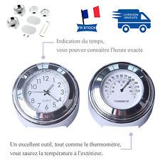 """Thermomètre universel pour montre de guidon de moto étanche 7/8 """"1 moto argent"""