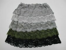 new HOT & DELICIOUS SH4717 Women's Size L Fashion Tiered Lace Party Mini Skirt