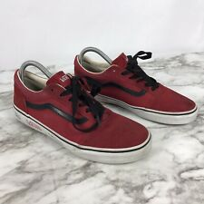 Vans Men's Red Old Skool Low Cut Youth Unisex Ankle Red Sneakers Shoes Size 6