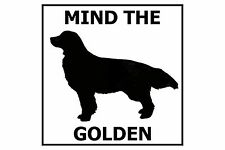 Mind the Golden Retriever - Gate/Door Ceramic Tile Sign