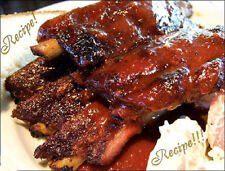 "☆""RECIPE""☆Beer And Molasses Barbeque Sauce☆BBQ Grill or Oven~Takes 30 Minutes!☆"