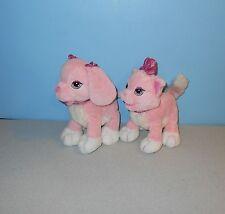 Animal Alley Toys R Us Pink Ginger & GiGi Puppy Kitty Bean Stuffed Plush Animals