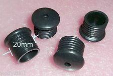 4x .. Verschlußkappen Kappen  Gummifüße Ø20mm Höhe 21mm  schwarz ... 4-St.