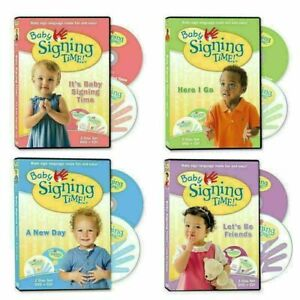 BABY SIGNING TIME: VOLUMES -1-4, DVD SET, FREE SHIPPING , NEW.