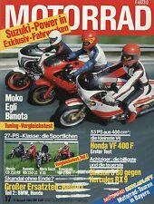 Motorrad 17 83 17.8.1983 Test Bimota SB4 Hercules RX9 Simson 80 Moto Guzzi V 35