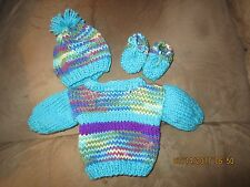 18'' Doll Clothes/ Cute Handknit Sweater Set / Will Fit American Girl Doll