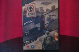 District 9 / 2012 / Battle: Los Angeles DVD 3 Disc Set