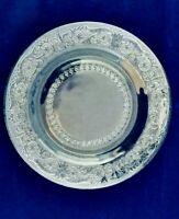Vintage Sandwich Pattern Pressed Glass Salad / Dessert Serving Plate-Estate Item