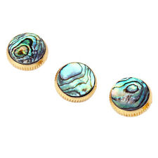 3Pcs Gold Plated Abalone Shell Finger Buttons Inlay for Trumpet Instrument Parts