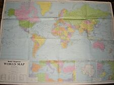 LARGE WORLD WALL MAP. 1968. COLOUR. DAILY EXPRESS MAP OF THE WORLD.