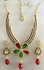 BOLLYWOOD INDIAN DESIGNER JEWELLERY SET PARTY & BRIDAL , PARTY WEAR NECKLACE
