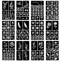 40 Styles Hollow Henna Tattoo Stencil Template Body Hand Art Paste Drawing MZ