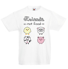NEW tshirt Friends not Food 9-11 Years old White boys or girls