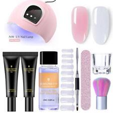 9Pcs/Set Poly UV Gel Nail Polish Jelly Gel Extension 54W Nail Dryer UV LED Lamp