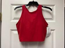 ATHLETA Conscious Crop A-C NWT - LARGE Hibiscus Red $59