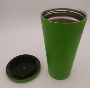 Starbucks 2014 Matte Lime Green Stainless Steel Tumbler with Lid Coffee Tea Cup