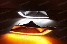 Daytime Running Light DRL LED Fog Lamp w/Turn Signal For Ford Ranger 2015-2016