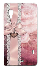 CUSTODIA COVER CASE FIOCCO ROSA PINK RIBBON PER LG OPTIMUS L5 II E460