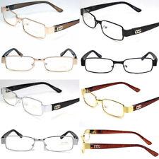 Mens Women Clear Lens Rectangular Eye Glasses Fashion Frame Designer Small Retro