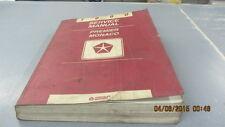1990 Service Manual Premier Monaco Chrysler Motors L@@K Free Shipping!!!!