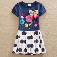 Girls' Party Short Sleeve Sleeve Cotton Blend Dresses (2-16 Years)