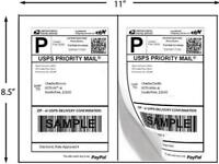 Economy Half Sheet Shipping Labels 5.5 x 8.5 inch 2 Labels/Sheet 100 Sheets/Pack