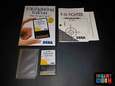 JUEGO SEGA MASTER SYSTEM  F-16 FIGHTING FALCON (CARD) LEER/READ!