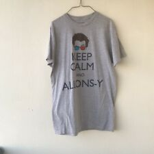 """Vintage 2009 Doctor Who BBC """"Keep Calm and Alons-y"""" T-shirt 3-D Glasses LARGE"""