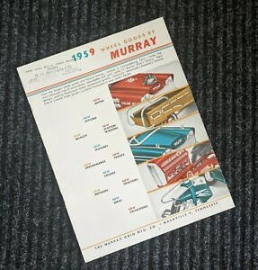 Murray Pedal Car / Tractor 1959 Dealer Catalog - Wheel Goods - Tricycles 59