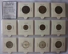 New Guinea Coin Set 1935-1945 VF to aUNC (11 coins). Complete Set